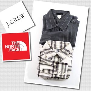 J. Crew The North Face Long Sleeve Button Shirts S